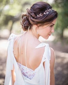 coiffure bohème chic mariage chignon torsade avec diadème