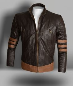 Wrinkled Brown X-Men Origins Wolverine Leather Jacket : LeatherCult.com, Leather Jeans | Jackets | Suits