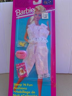 Vintage Mattel Barbie #68021 Sleep 'N Fun  Fashions NRFB , 1994 Barbie Clothing Clothes  New in Package , Collectible Barbie Doll Outfit by ShersBears on Etsy