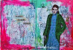 Art Journal: This page started actually out as a demo page in class and I had…