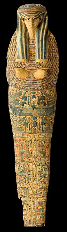 coffin of the priest called Amun Nes-pa-neb-imakh. New Kingdom 1000-970 BC Wood, Luxor