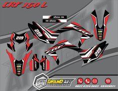 CRF 150 L Decal kit Motorcross Bike, Motocross, Airbrush Designs, Bike Kit, Dirtbikes, Logo Sticker, Car Wrap, Bruce Lee, Motorcycle Parts