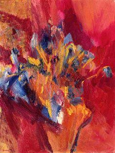 David Bomberg (1890-1957) Cornflowers and Delphiniums