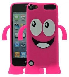 For Apple iPod Touch 5 5th Gen Generation Happy Face Skin Gel Case/Cover - Pink