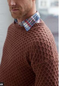 Ravelry: Honeycomb Pullover pattern by Bruce Weinstein
