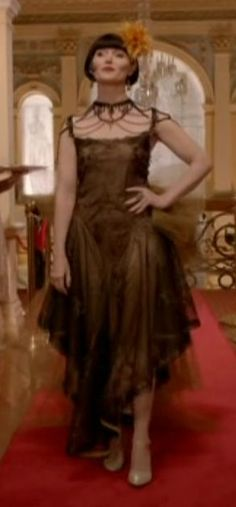 """Miss Fisher, wearing the """"showstopper"""", or as Jack would describe it, """"lethal""""!"""
