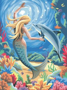 seascape mermaid canvas oil painting factory hot selling painting painting by numbers angel picture Dolphin Painting, Underwater Painting, Mermaid Artwork, Mermaid Drawings, Mermaid Paintings, Mermaid Canvas, Fantasy Mermaids, Mermaids And Mermen, Real Mermaids