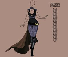 Fashion Adoptable Auction 116 - CLOSED by Karijn-s-Basement on DeviantArt Anime Outfits, Cool Outfits, Casual Outfits, Dress Drawing, Drawing Clothes, Badass Outfit, Fantasy Gowns, Anime Dress, Character Outfits