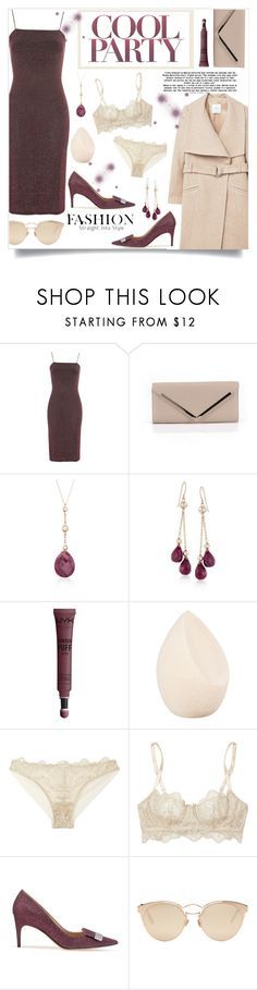 """""""How to wear a Glitter Dress!"""" by disco-mermaid ❤ liked on Polyvore featuring Nobody's Child, ALDO, Ross-Simons, NYX, Christian Dior, I.D. SARRIERI, Sergio Rossi, MANGO, Heels and party"""