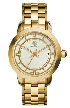 Tory Burch 'Tory' Large Round Bracelet Watch, 37mm available at #Nordstrom