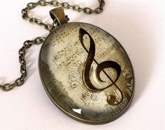 I love music Big Necklace, 0498OPB from EgginEgg by DaWanda.com