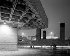 """jzaphotography: """" All Quiet on the Western Terrace The Royal National Theatre:: Sir Denys Lasdun """" Royal National Theatre, Concrete Building, Concrete Structure, Bus Station, Brutalist, Terrace, Westerns, Architecture Design, Stairs"""