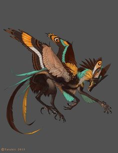 Pale Throated Gliding Feonix by Tatchit on DeviantArt