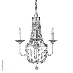 Malia 3 Light Chandelier by Feiss @peterreidlighting #designerlighting