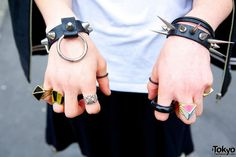 Studs and spikes bracelets