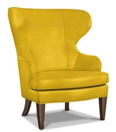 Yellow leather chair Old Rand Chair In Yellow Leather From Ethan Allen Pinterest Best Rand Chair Images Tub Chair Wing Chairs Wingback Chairs