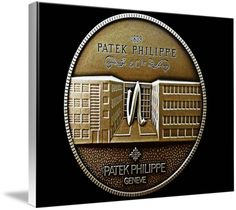 "Patek Philippe Geneve Commemorative Medal Coin (Front) $132 // Style: White Edge Canvas Print; Size: Large 24"" x 32"" // Visit http://www.imagekind.com/Patek-Philippe-Geneve-PPG_art?IMID=5cad76ca-2632-4430-9e1b-71f73e27c714 for product details."