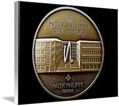 "Patek Philippe Geneve Commemorative Medal Coin (Front) $132 // Style: White Edge Canvas Print; Size: Large 24"" x 32"" // Visit http://www.imagekind.com/Patek-Philippe-Geneve-PPG_art?IMID=5cad76ca-2632-4430-9e1b-71f73e27c714 for product details."
