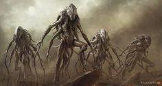 sci-fi alien aliens creature art artwork futuristic d wallpaper background Arte Sci Fi, Sci Fi Art, Alien Wallpaper, New Wallpaper Hd, Desktop Wallpapers, Sci Fi Horror, Arte Horror, Horror Art, Alien Creatures