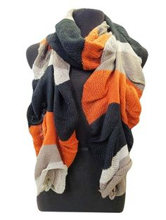 Orange ruffled scarf , I need  To buy lots and lots of scarfs !