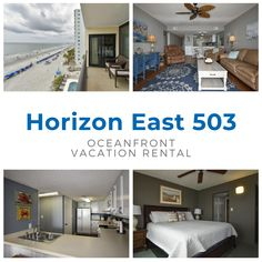 Horizon East 503 is a two-bedroom, two-bath oceanfront condo located 0.6 miles north of Garden City Pier.  Three color TVs (cable), DVD player, stereo, and Wi-Fi are also provided. Sleeping accommodations include one king and two double-sized beds. Common area includes a swimming pool, gazebo, grills and two elevators.  Weekly rentals only. No smoking. No pets.  Check-out maid service included. Linens included. Maximum occupancy: 8 Pool Gazebo, Oceanfront Vacation Rentals, Weekly Rentals, Common Area, One Kings, Two Bedroom, View Photos, Wi Fi, Smoking