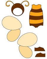 Poupées à habiller - Les abeilles