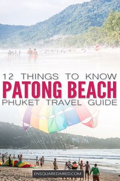 12 Interesting Things You Didn't Know About Patong Beach In Phuket Read This Post If You Are Doing Some Asia Travel Or If You Are Planning A Thailand Honeymoon. Patong Beach Is Perfect For Your Southeast Asia Travel and A Great Beach In Phuket. Phuket Travel Guide, Thailand Travel Tips, Asia Travel, Iceland Travel, Travel Abroad, Koh Phangan, Pattaya, Destin Beach, Beach Trip