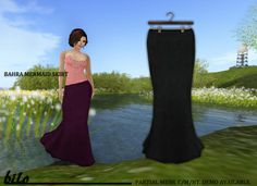 {bilo} Bahra Skirt- Night  (Partial Mesh)