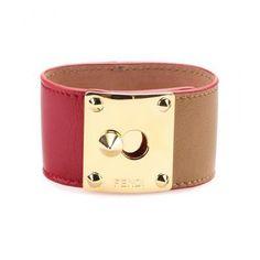 Fendi - Leather cuff #jewelry #fendi #women #designer #covetme