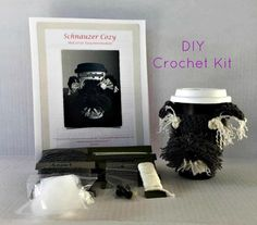 Schnauzer Crochet Kit/Dog Crochet Kit/DIY Crochet Kit/Amigurumi Kit/Crochet Pattern/Amigurumi Kit/HookedbyAngel