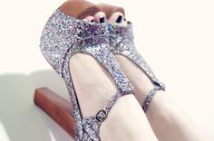 Foxy Wood Multi Glitter by Jeffrey Campbell.    Pix by http://www.paulinefashionblog.com/