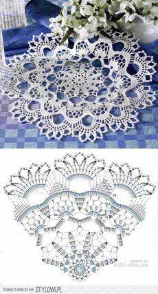 37 Ideas crochet lace diy beautiful for 2019 Crochet Doily Rug, Crochet Doily Diagram, Crochet Dollies, Crochet Doily Patterns, Crochet Chart, Thread Crochet, Filet Crochet, Irish Crochet, Crochet Designs