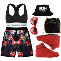 A fashion look from August 2014 featuring Calvin Klein Underwear bras and Wildfox sunglasses. Browse and shop related looks.