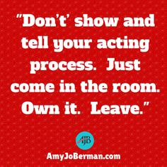 Tips On Acting With Casting Director Amy Jo Berman