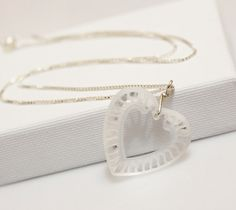 Your place to buy and sell all things handmade Heart Pendant Necklace, Sterling Silver Chains, Valentine Day Gifts, Swarovski, Crystals, Board, Etsy, Crystal, Valentine Gifts