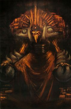 Chozo artwork from Metroid Prime