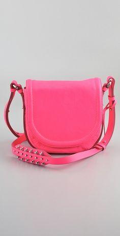 alexander mcqueen. hot pink. studs. yes please!