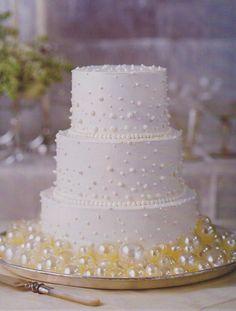 White Pearl Martha Stewart Wedding Cake - Wedding Cake Ideas