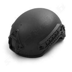 MICH 2001 US Helm mit Rail System Schienen schwarz BK
