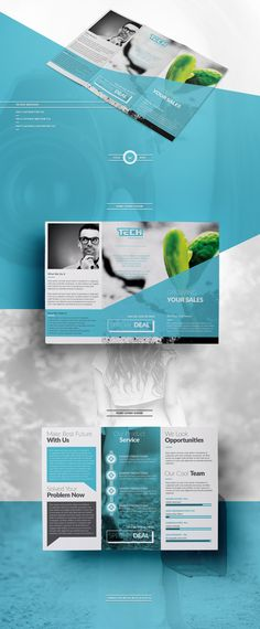 If you need to design any kinds of brochure or flyer then you can check out this. Brochure Folds, Design Brochure, Creative Brochure, Brochure Layout, Brochure Template, Brochure Trifold, Luxury Brochure, Indesign Templates, Brochure Ideas
