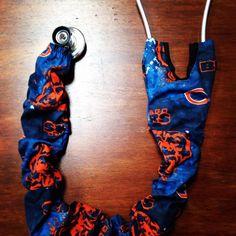 Chicago Bear's Stethoscope Cover