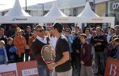 Juan Ignacio Chela brindó una clínica de tenis en Villa Martelli