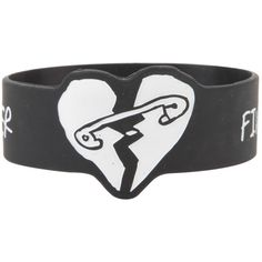 Hot Topic Five Seconds Of Summer Die-Cut Heart Rubber Bracelet ($5.60) ❤ liked on Polyvore featuring jewelry, bracelets, multi, rubber jewelry, heart jewelry, rubber bangles, heart shaped jewelry and heart bangle
