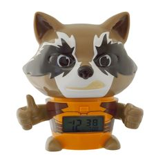 BulbBotz Guardians of the Galaxy Rocket Racoon 5.5 in Clock (Orange)
