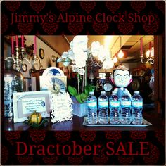 Dractober SALE! #October #clock #SALE #spooky #big #savings #ticktock #watch #candelabra #dracula #fangs #Halloween #candy #caramel #decorations #hydrate #water #antique #buffet #orchids #estate #interior #home #accessory #holiday #shopping Come by Today!