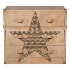 Howard Star Studded Parchment Chest of Drawers - Chest of Drawers - Furniture - Andrew Martin