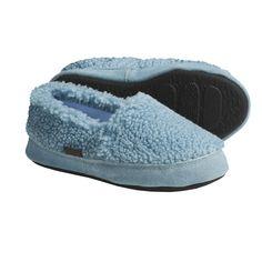Acorn Tex Moc Slippers - Berber Fleece (For Girls) in Powder Blue