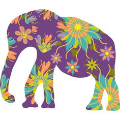 Elephant with flowers is a Sticker designed by luizavictorya to illustrate your life and is available at Design By Humans