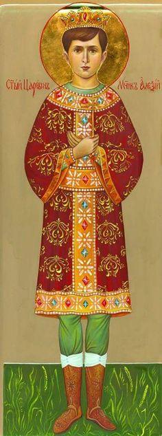 """Icon of the Tsarevich Alexei Nikolaevich Romanov of Russia. """"AL"""""""