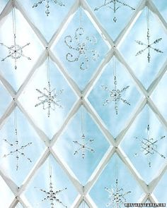 Beaded snowflakes craft Christmas Ornaments